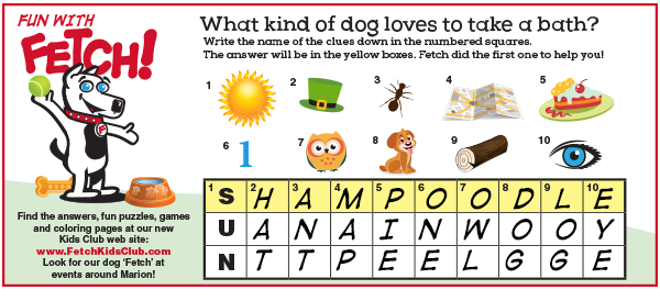 Fetch word puzzle answer